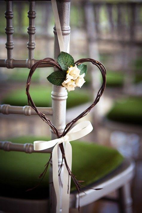 Wedding #ceremony chair decorations