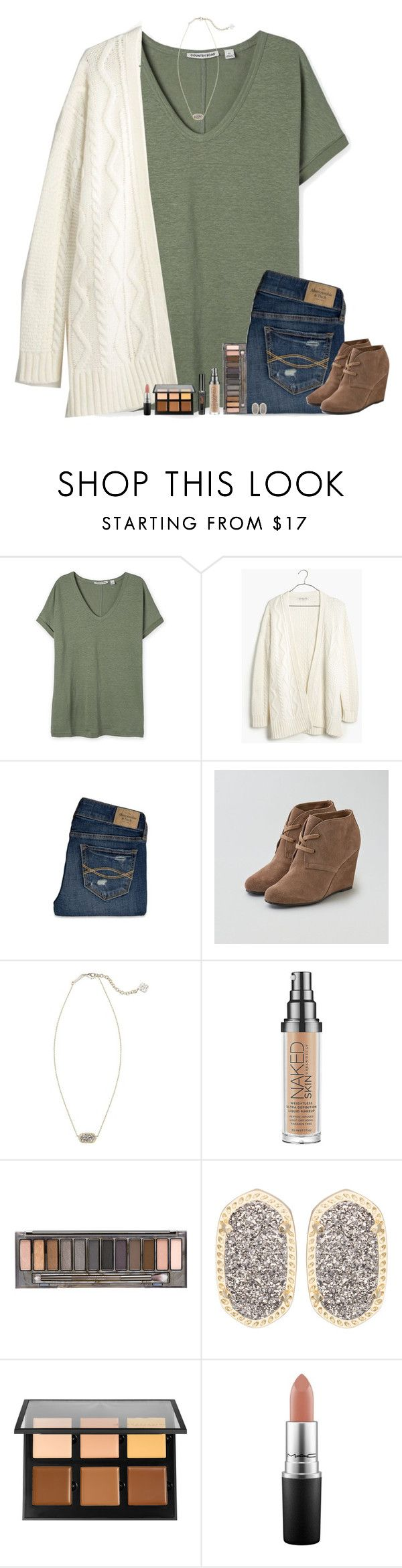 """""""•And I know, you're gonna be away a while, but I've got no plans at all to leave•"""" by bloom17 ❤ liked on Polyvore featuring moda, Madewell, Abercrombie & Fitch, American Eagle Outfitters, Kendra Scott, Urban Decay, Anastasia Beverly Hills e MAC Cosmetics"""