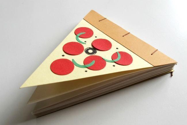 Preciosos y realistas cuadernos de notas en forma de comida