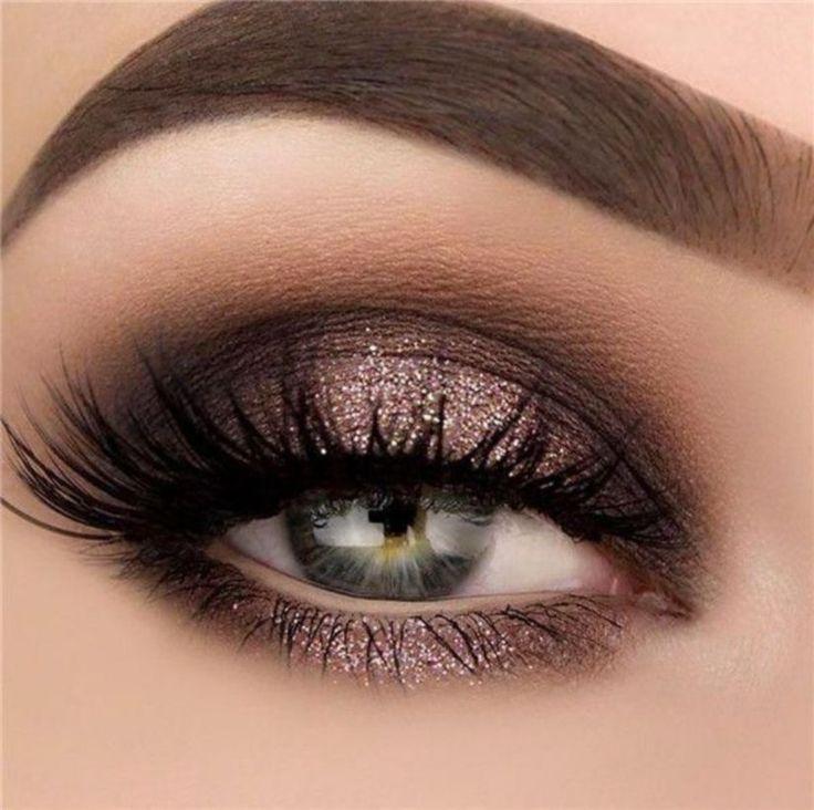 40 Magical Eye Makeup Ideas for Wedding, #eyemakeupsmokey, #Smokey
