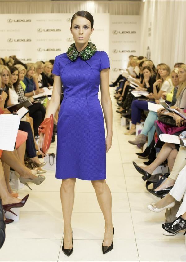 JOANNE HYNES Emerald Collar | Harvey Nichols | Autumn/ Winter Fashion Showcase 2014