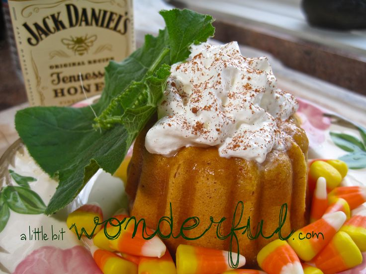 Pumpkin Spice Bundt Cakes with Apple and Jack Daniel's Tennessee ...