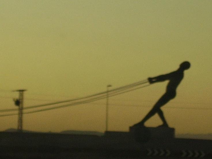 Statue at sundown in Sucina