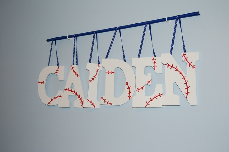 Made these baseball letters for Caiden's room :-)