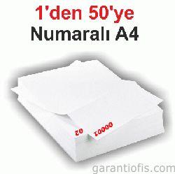Numaralı A4 Kağıt ve Sürekli Formlar (Yevmiye-Kebir)Numaralı Kağıt