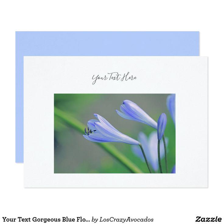 Your Text Gorgeous Blue Flowers Invitation