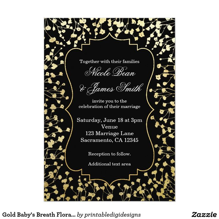28 best Black \ Gold Glam Chic Party Invitations images on Pinterest - best of invitation party card