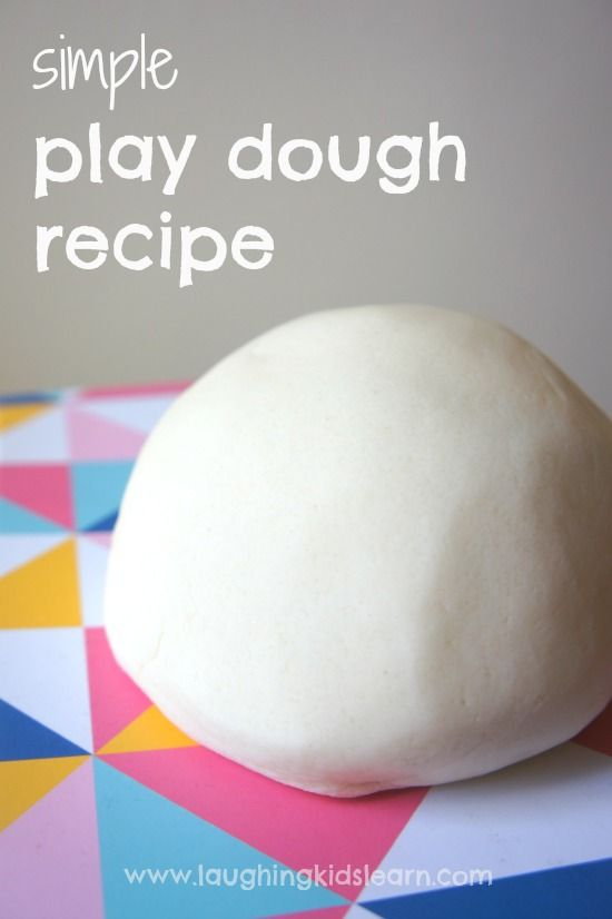 simple play dough recipe base for kids