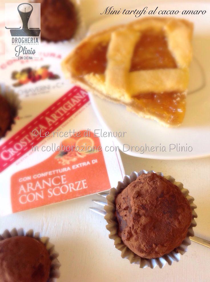Cocoa Truffles - Tartufini al cacao realizzati con una crostata con confettura di arance. Il connubio ciocco-arancia è uno dei must nella pasticceria!