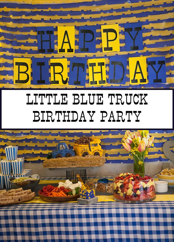 Little Blue Truck Birthday Party - Nearly Crafty