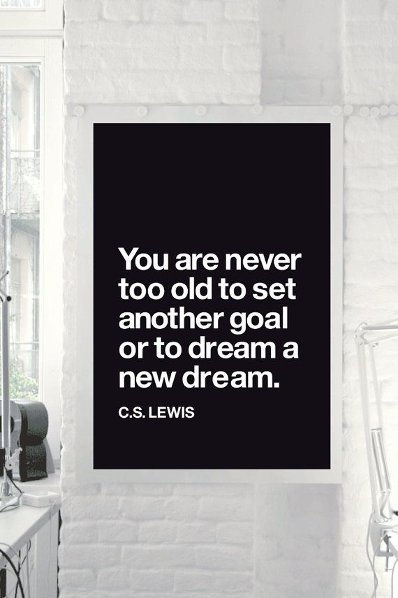 "Inspirational Quote Motivational Print Art Wall Decor ""C.S. Lewis"" Black and White Typographic Poster Sign Subway Art DIGITAL DOWNLOAD on Etsy, $9.00"