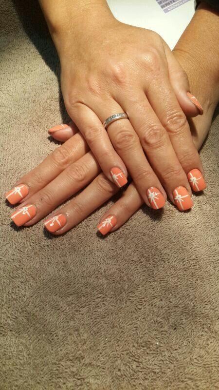 Orange and stripe bows