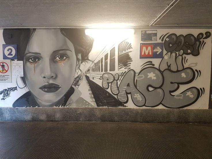 Milan, Italy by giambatista leon #subway#portagenova#streetart#cosimipiace#