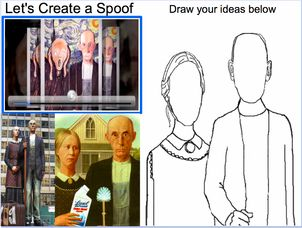 American Gothic Spoof-O-Matic - grade 4. Incorporates interactive whiteboard