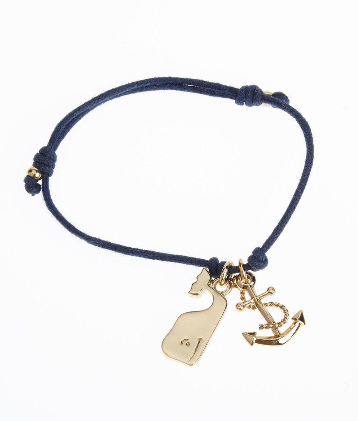 Women's Jewelry: Enamel Anchor Cord Bracelet for Women - Vineyard Vines