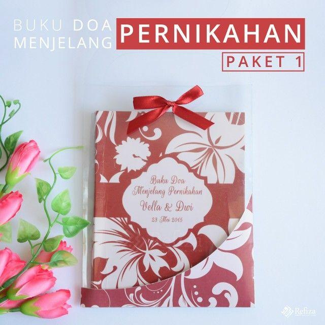 Buku Do'a menjelang pernikahan paket 1 bisa custom motif cover, sudah termasuk kemasan mika, pita, dan stiker.