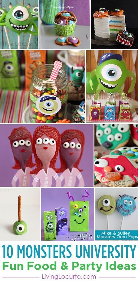 10 Monsters University Fun Food Recipes, Crafts & Party Ideas for Family Movie Night. LivingLocurto.com