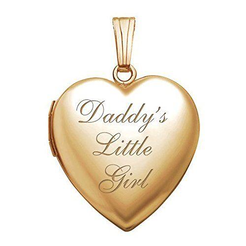14k Daddys Girl Heart Pendant