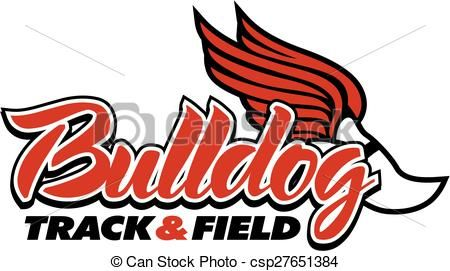 vector bulldog track amp field stock illustration