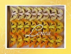Motýl - sada žlutá -24ks