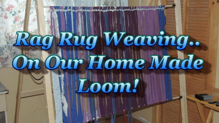another excellent demonstration of how to do this      Rag Rug Weaving On A Simple Home Made Loom
