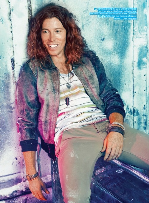 Shaun White. :D probably not leave my bf for him but he is good looking!