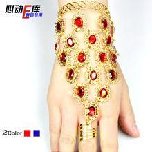 2014 New Free Shipping Indian Bracelet Wedding Bridal Bollywood Bangles Jewelry Belly Dance Bracelets(China (Mainland))