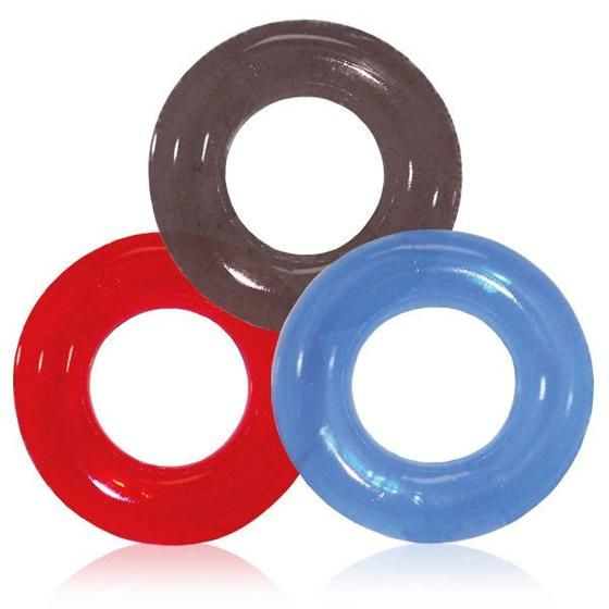 The Perfect Couples Cock Ring! Take your sexual experience to the next level with the new Screaming O RingO Cock Ring. This stretchy and durable jelly rubber ring is perfect for beginners and couples to spice things up in the bedroom.  This one-size-fits most ring comes in three different colors at random so you'll get a cool surprise! Simply apply a bit of lube to make it easier to put on the ring and watch as your cock instantly grows more veiny and hard!
