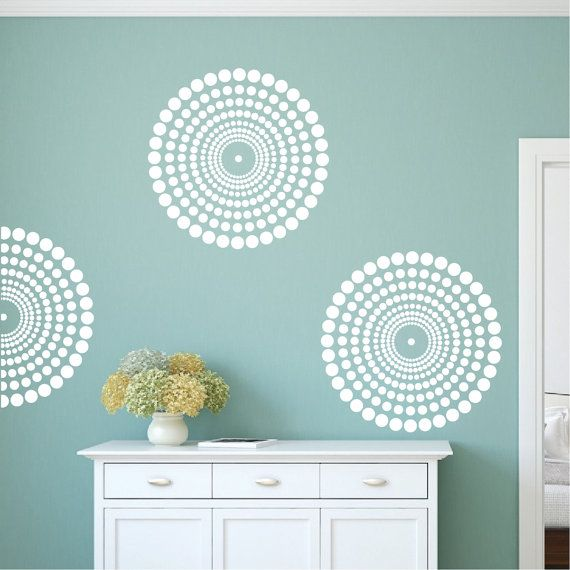 Contemporary Wall Decal Circle Wall Decal by TrendyWallDesigns