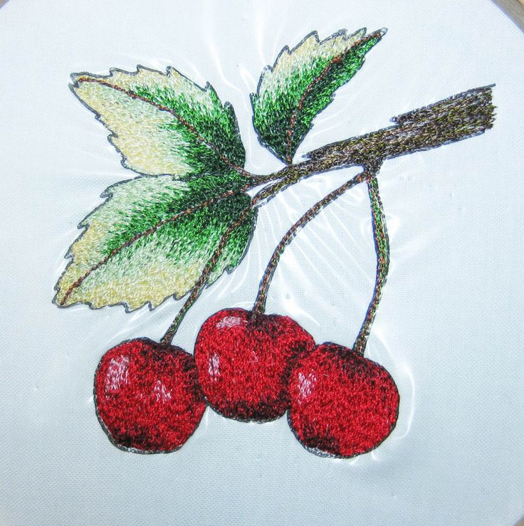 22 best free hand machine embroidery images on pinterest for Hand thread painting tutorial