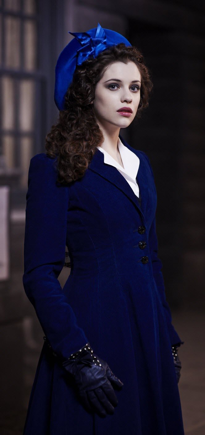 "Jessica De Gouw ""Mina Murray Dracula NBC Icon in dark blue"