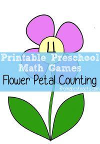 Дошкольные Математические Игры - Лепесток Цветка Подсчета
