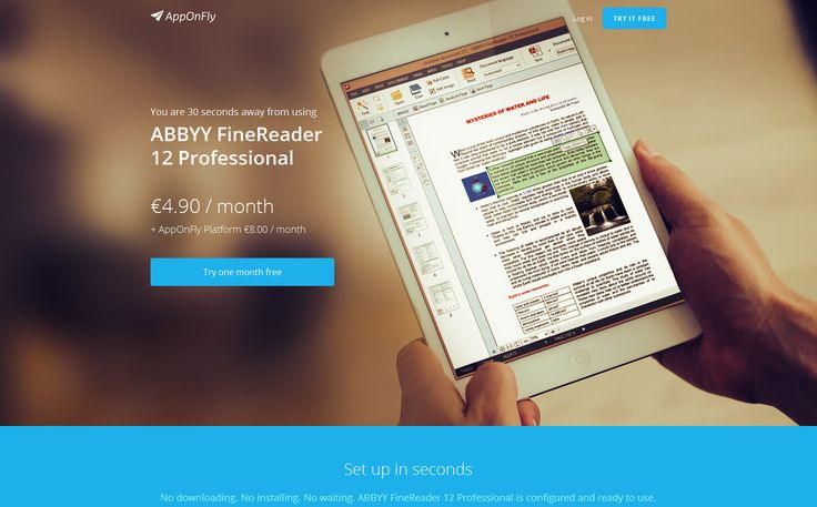 You can very accurately convert paper and images into editable formats including Microsoft Office and searchable PDF – enabling you to reuse the content, archive them more efficiently and retrieve more quickly. This all can be done through AppOnFly online cloud access to ABBYY FineReader with no installation or setup needed. #abbyy #abbyyfinereader  #finereader #cloud