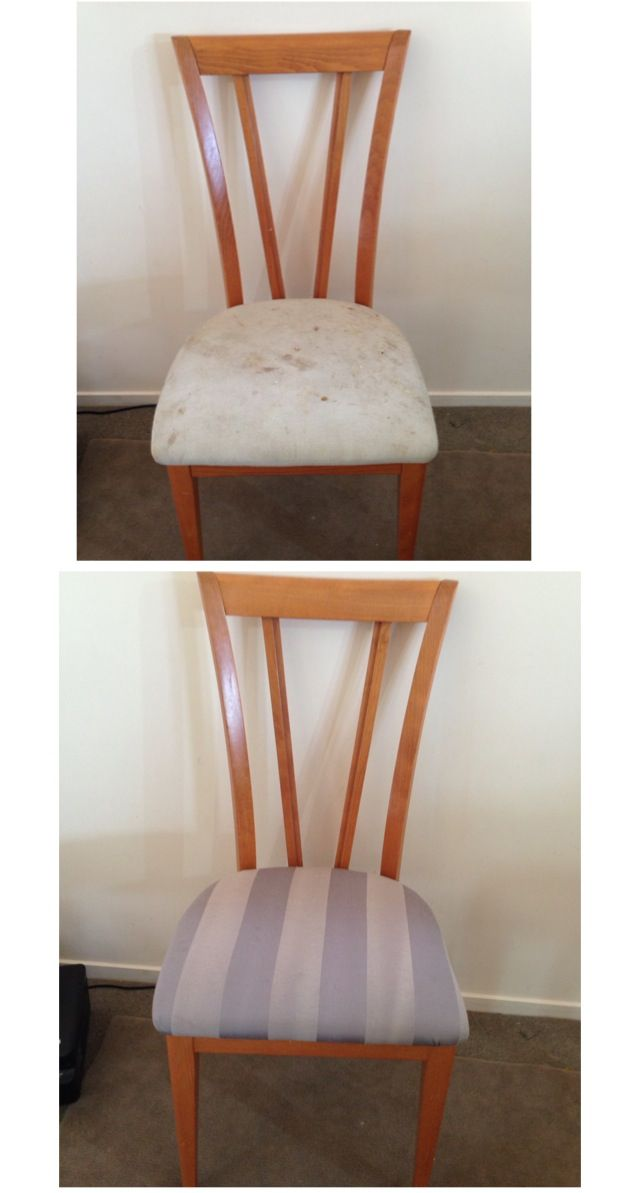 DIY recovered dining chairs