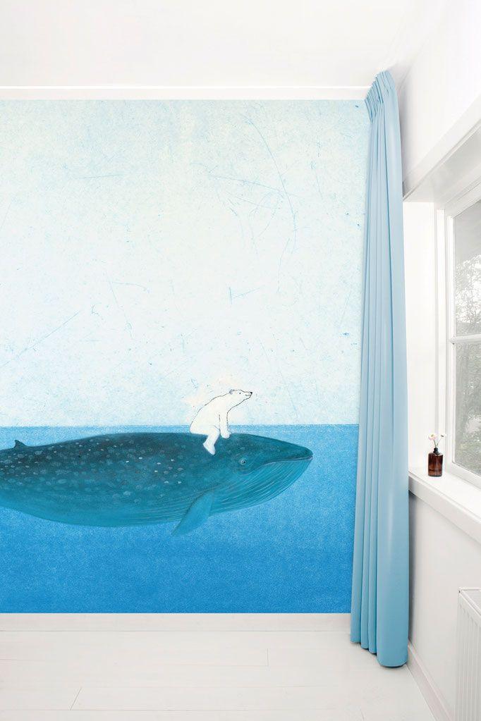 Fotobehang Op de rug van een walvis - KEK Amsterdam®