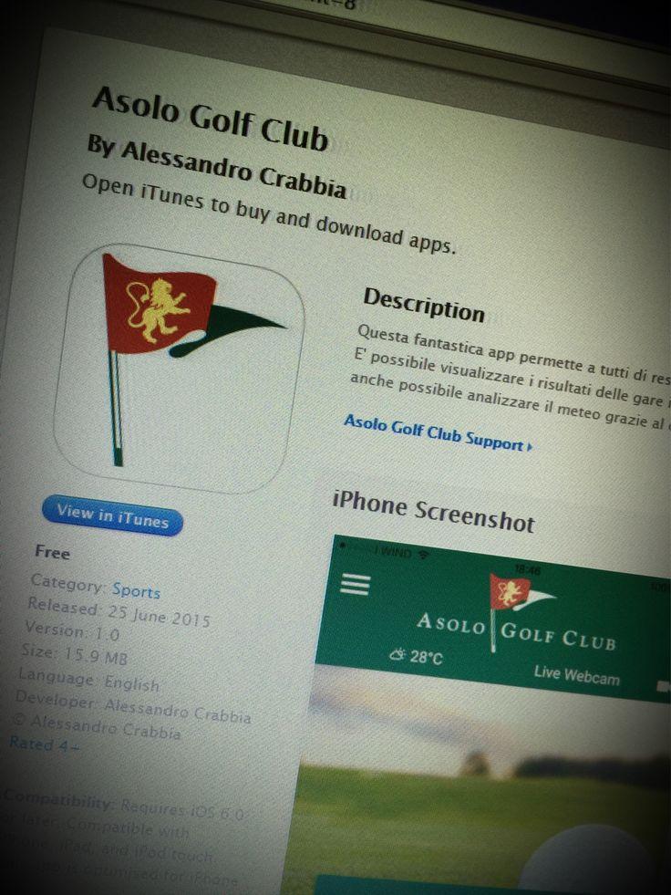 Dopo tante ore di progettazione e sviluppo finalmente l'app Asolo Golf Club è stata approvata nell AppStore Apple e nel PlayStore Google. Gratis. Prendete e scaricatene tutti! #webkitchen #asologolfclub #asolo #applestore #playstore