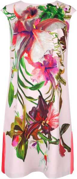 ted baker Ramonda Floral Print Tunic - Lyst