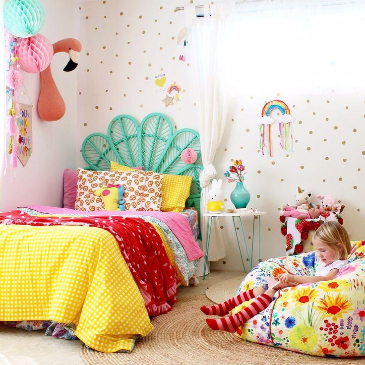 Rainbow Kids Room: Kids Bedroom Ideas // Rainbow Retreat