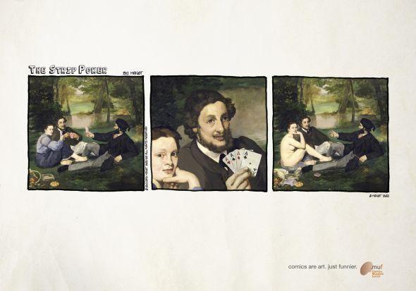 """Museo Nazionale del Fumetto """"Comics are art. Just funnier."""": The strip-poker -"""