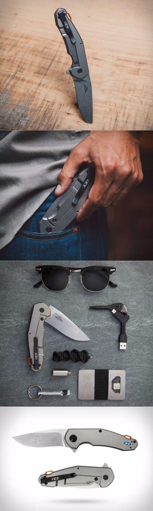 Zero Tolerance ZT 0220 Jens Anso TI KVT EDC Flipper Folding Knife Blade - Everyday Carry Flipper