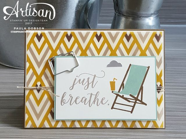 Paula Dobson - Stampinantics.  Just Breathe!  Take time to relax with Stampin' Up!'s Colorful Seasons stamp set.  Click on the picture to see more of Paula's projects. #pauladobson #stampinantics #colorfulseasonsstamp #stamptoshare