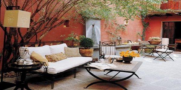 Terrific Bohemian Outdoor Living Room Design