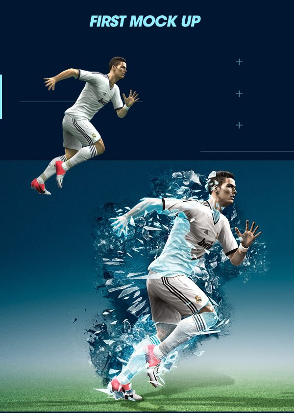 PES 2013 Photoshop and Cinema 4D Case Study