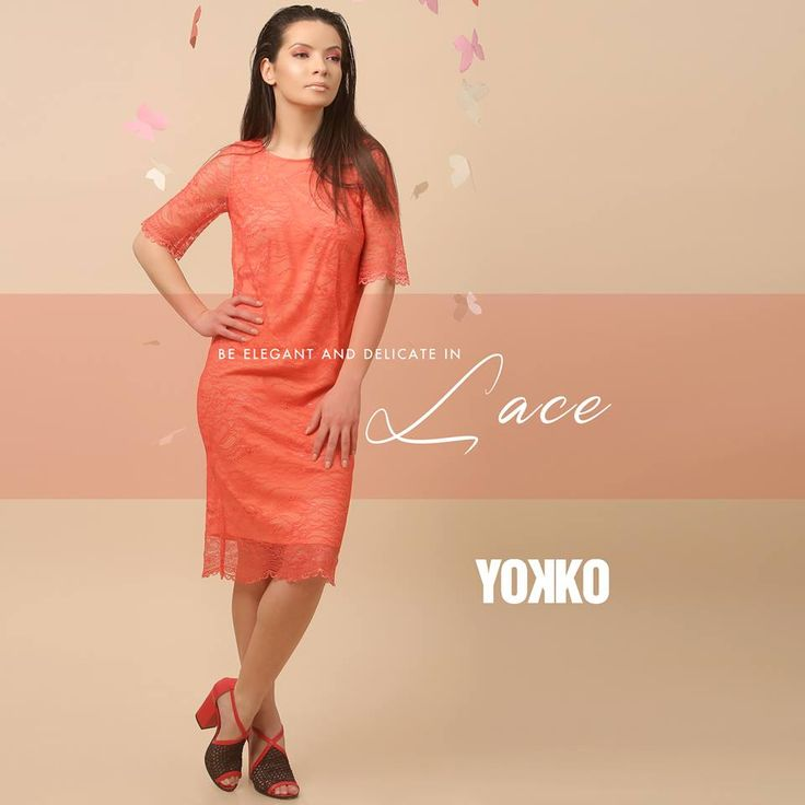 Lovely in lace! 💃🏿 SUMMER 17 | YOKKO  #lace #dress #summer17 #beauty #elegant #eveningdress #daydress #woman #color #fashion #style #yokko