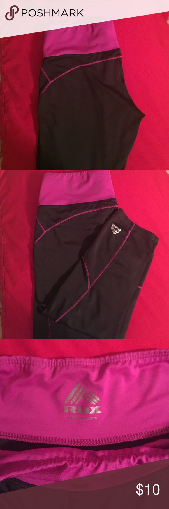 Sports training capris Black and purple/violet training pants. The material is similar to spandex/ polyester. They're also stretchy and body fitting. rxb Pants Leggings