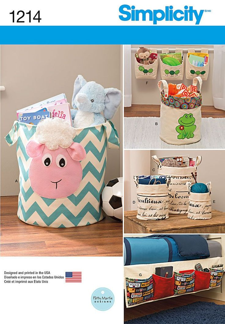 Simplicity Pattern 1214OS One Size -Home Decor | Kids Room Organization