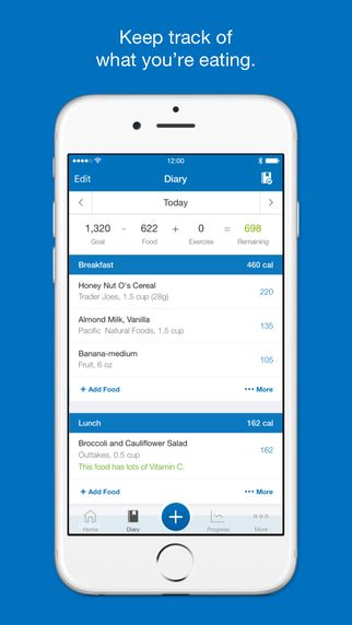 Calorie Counter & Diet Tracker by MyFitnessPal by MyFitnessPal.com