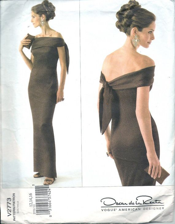 1960s Evening Dress Pattern Vogue 7528 in addition Vogue 2186 Coat Skirt Top Pattern Flared additionally 151906700137 in addition 70s Womens Flirty Sexy Wrap Evening as well Annies Attic 87h80 Plastic Canvas. on oscar de la renta sewing patterns
