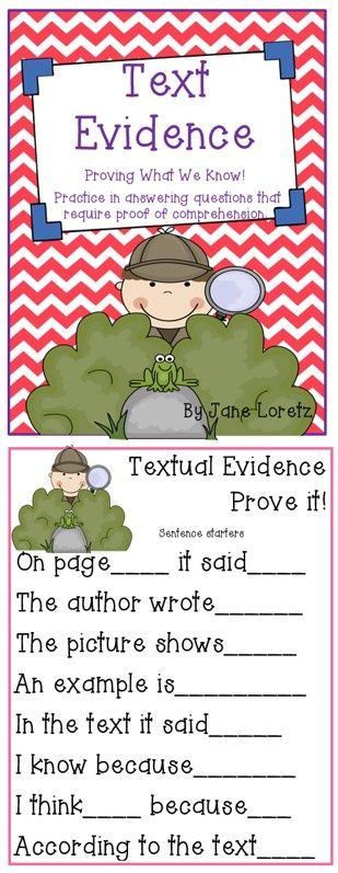 Text Evidence (Proving What We Know)