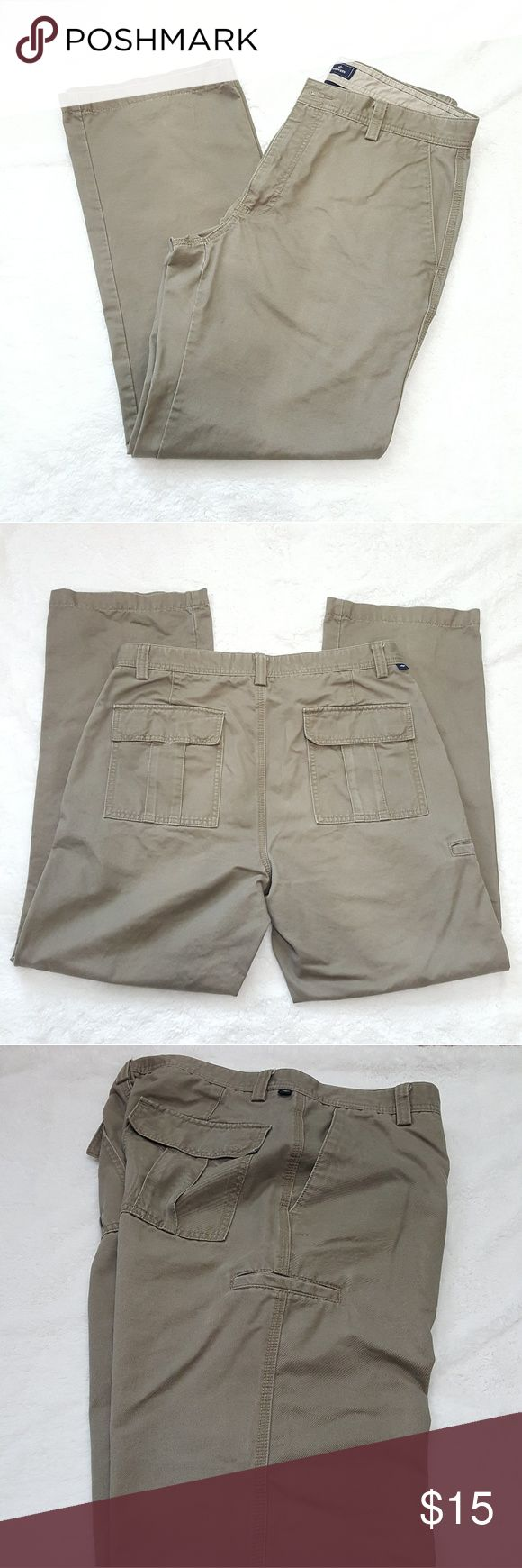 Dockers Men's Chino Pants These are in excellent used condition with no tears or rips.  They have a lot of life left in them.  They have a side pocket on the right leg.  Size is in last photo. 34 waist x32 inseam. Dockers Pants Chinos & Khakis